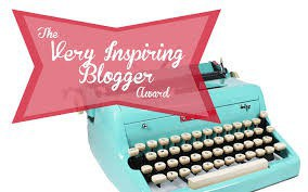 very inspiring blogger award typewriter