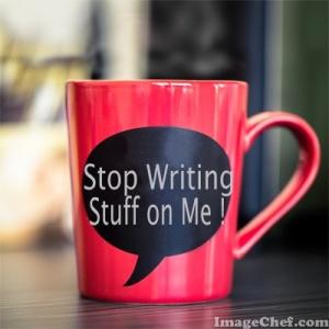 stop writing stuff coffee