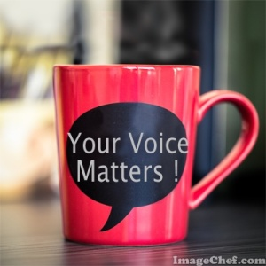 your voice matters coffee