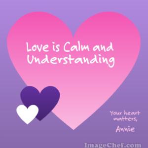 love is calm