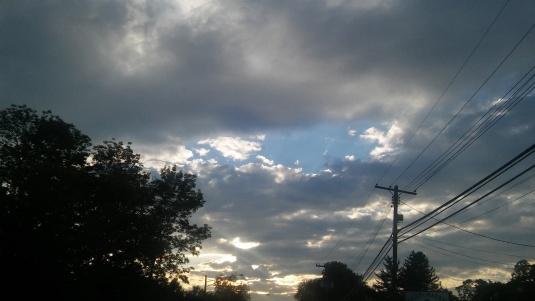 clouds hole