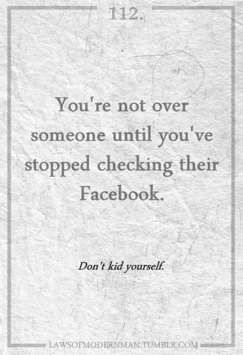 no contact stop checking facebook