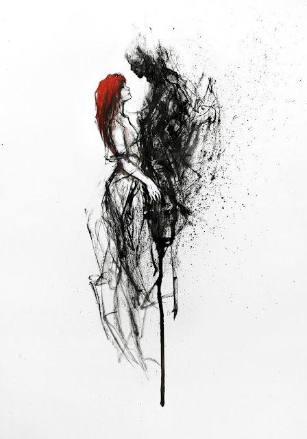 devil with woman art
